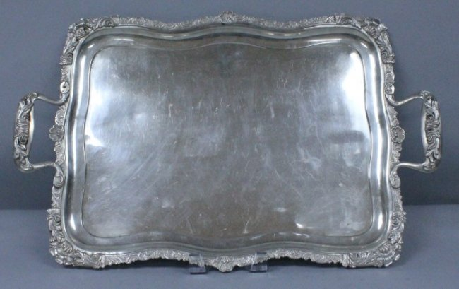 Antique Russian Tray Signed Sazikov