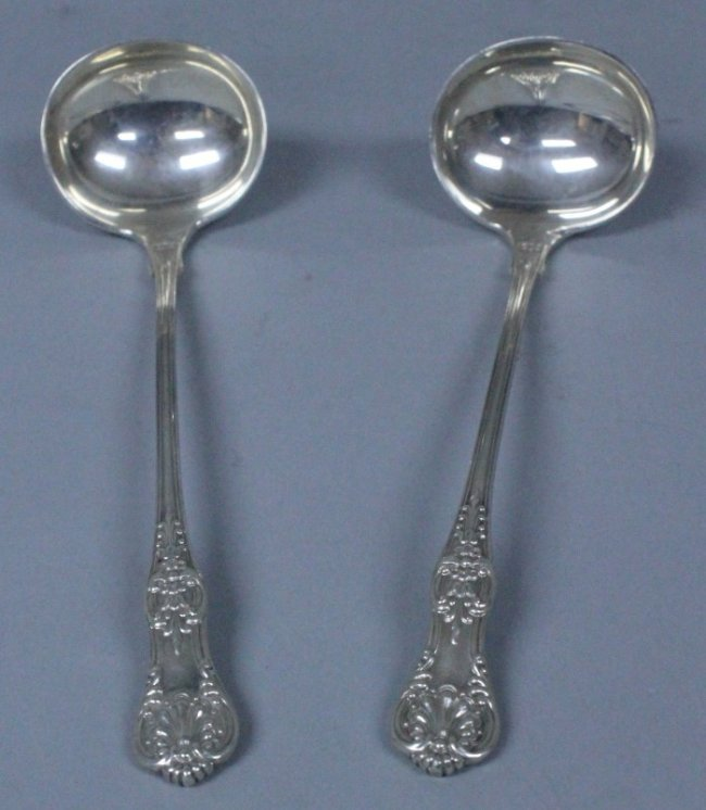 Pair Of Tiffany Sterling Ladles