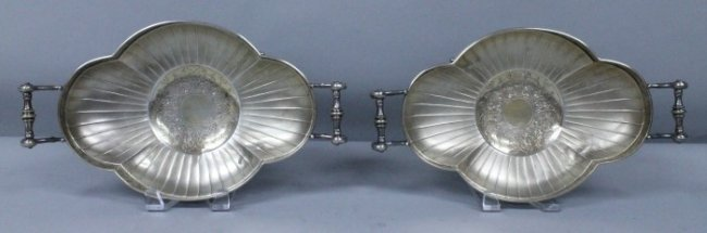Pair Of 19th C. German Silver Bowls