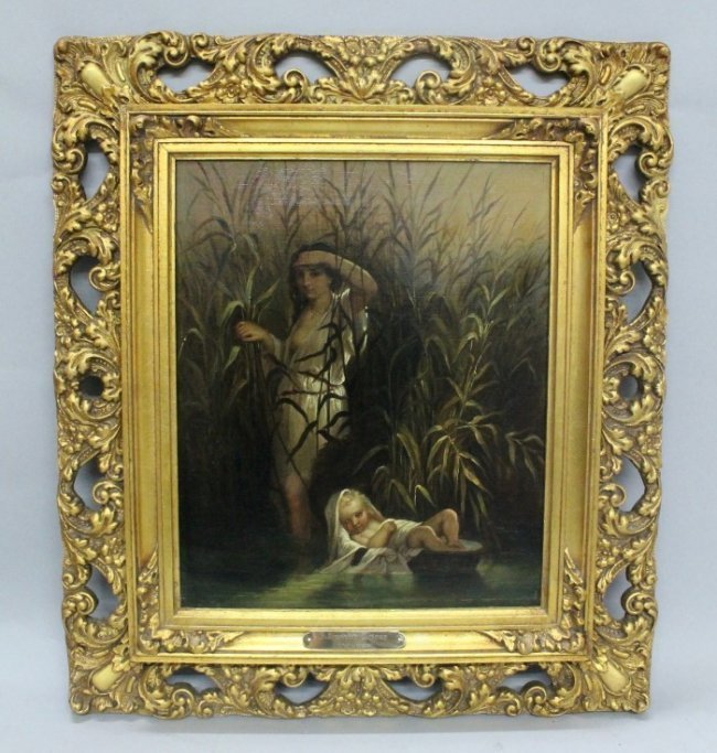 19th Cent Painting Oil On Canvas