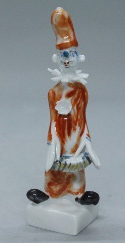 Meissen Figure Of Clown With Accordion