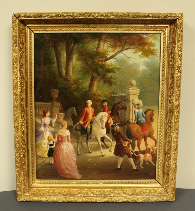 19TH C. PAINTING SIGNED G. GENGOULT