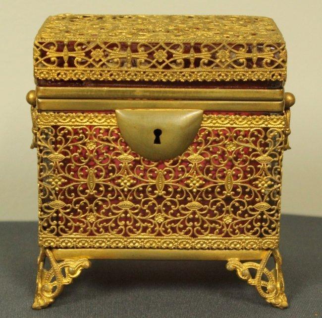 19TH C. MOSER BOX
