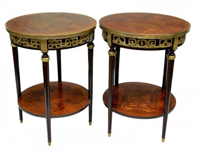(2) FRENCH LOUIS XV STYLE LAMP TABLES