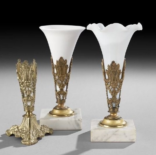 Group of Three Boston Bouquet Holders
