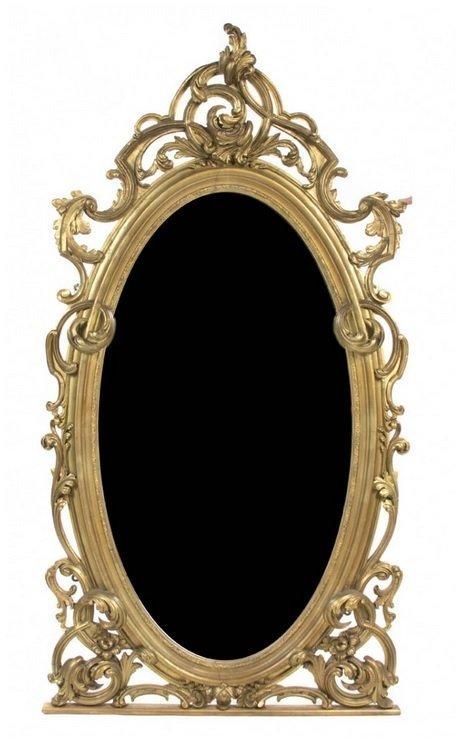 A Rococo Giltwood Overmantel Mirror
