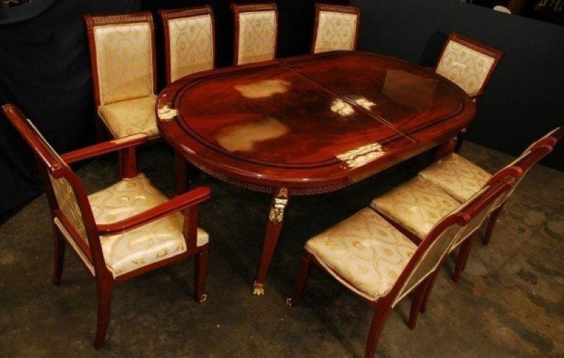 Versace Dining Table And Nine Chairs
