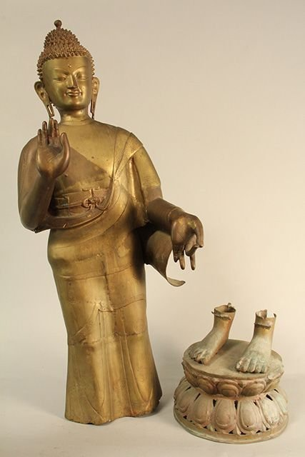 CAST BRASS STATUE OF QUAN YEN