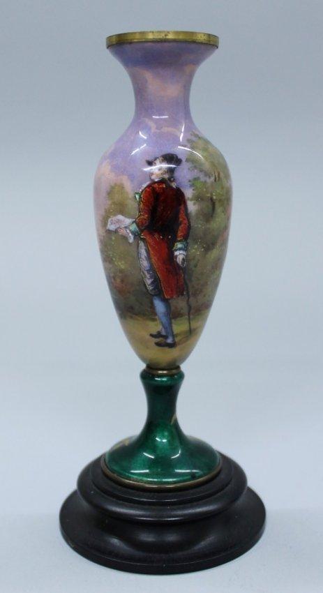 Vienese Enamelled Miniature Vase