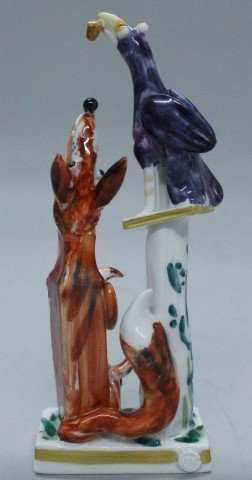 Meissen Figure Of The Fox And The Crow