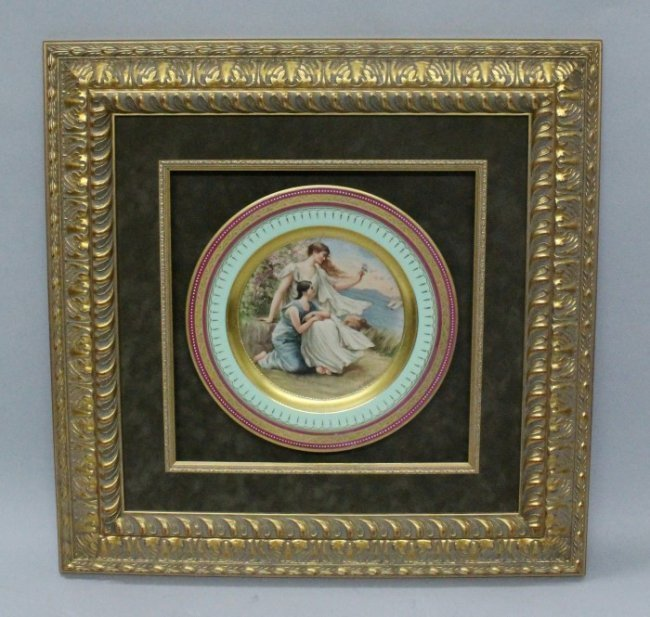 19TH CENTURY ROYAL VIENNA STYLE PLATE SIGNED K. WILDNER
