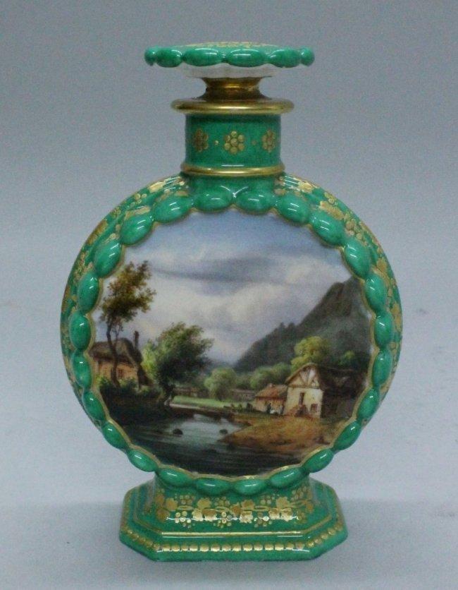 19 th century Paris porcelain perfume bottle