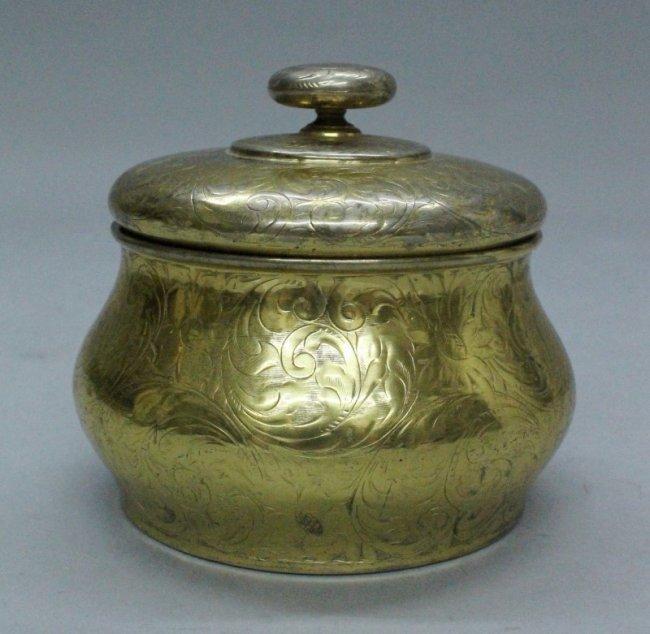 Antique gilt sterling Tiffany box