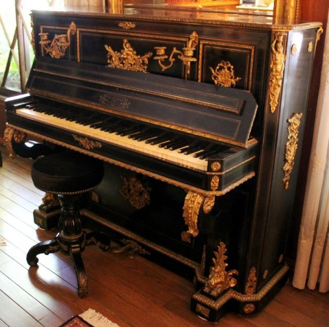 ART CASED BOULLE PIANO BY VAN OVERBERGH