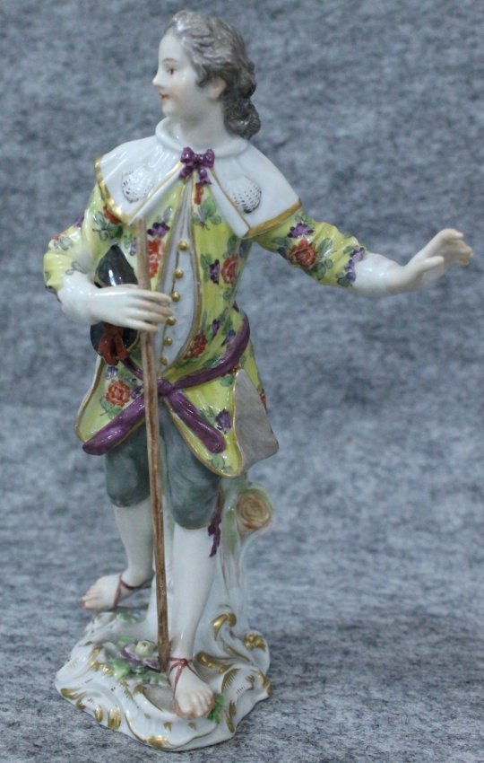 MEISSEN FIGURE WITH CANE
