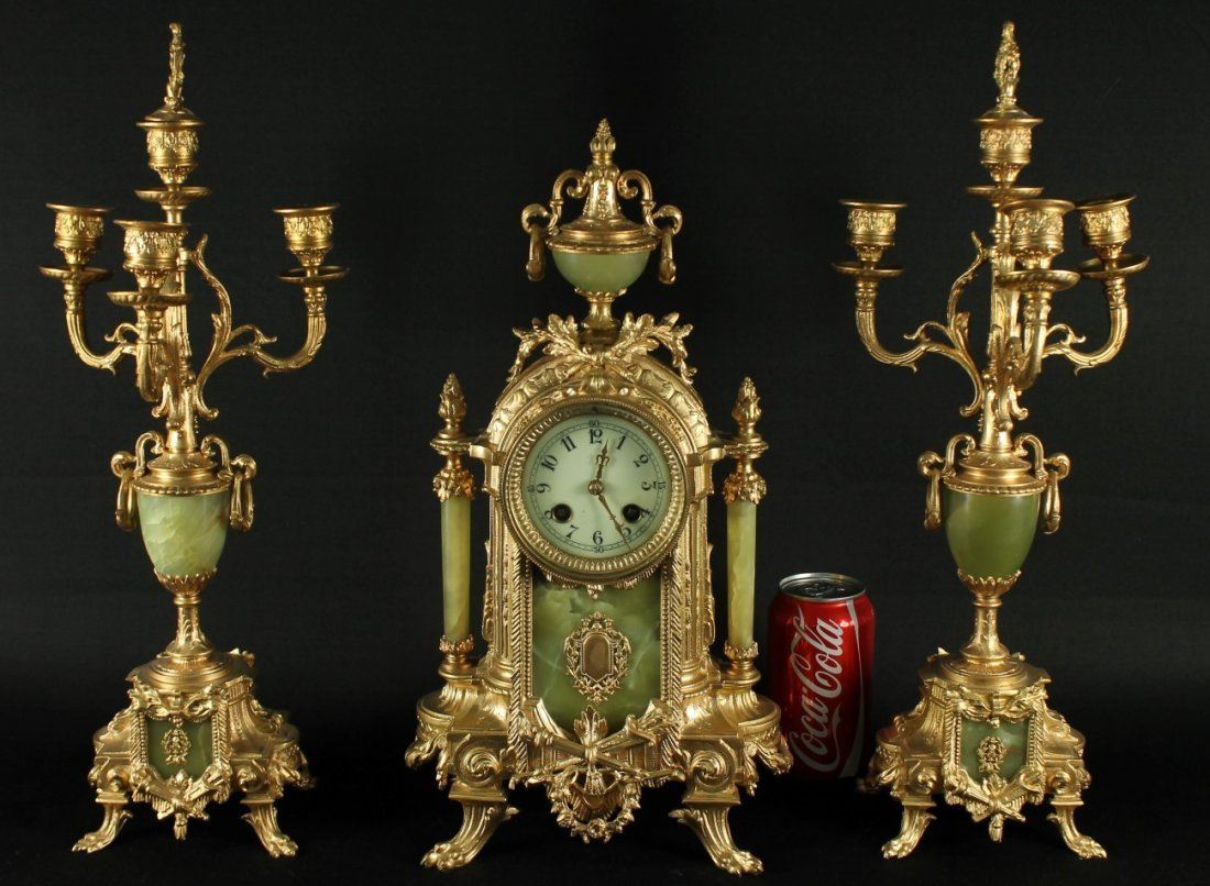 FRENCH CLOCK GARNITURE