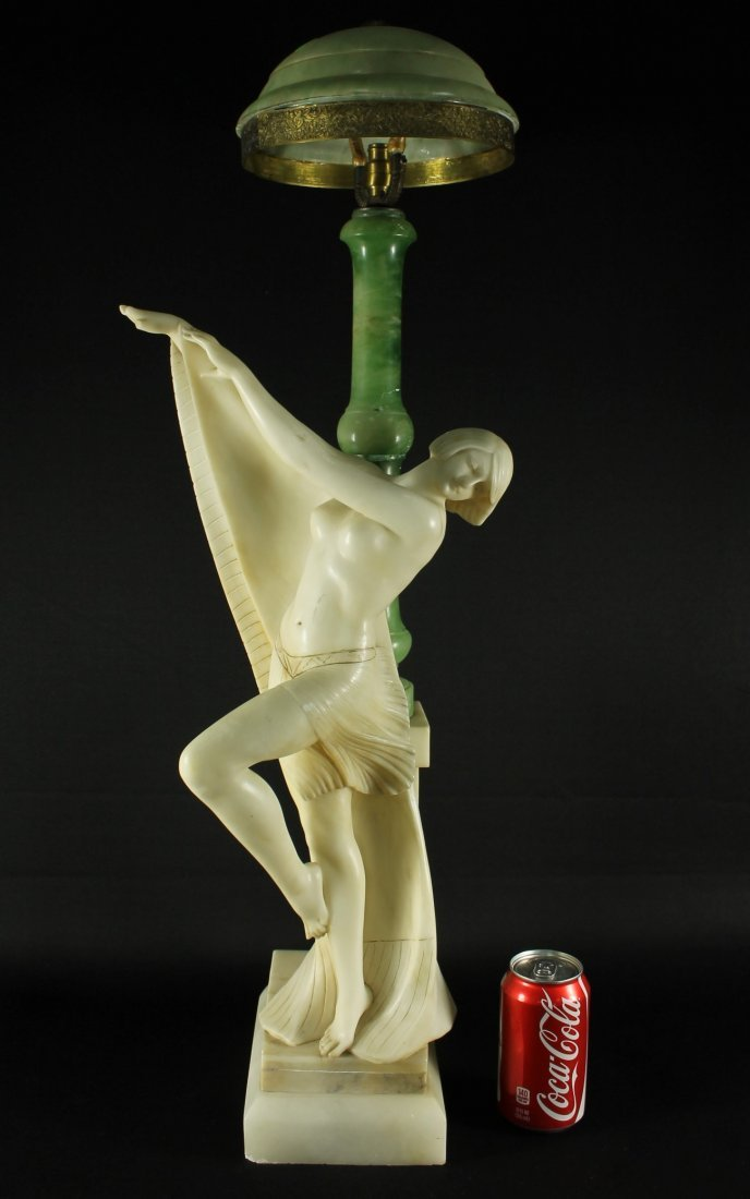 FIGURAL ALABASTER LAMP