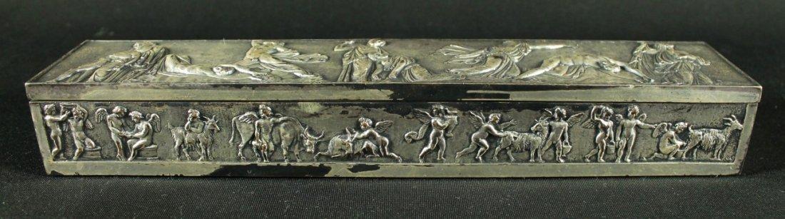 ANTIQUE VICTORIAN ELKINGTON MASON SILVER PLATED BOX