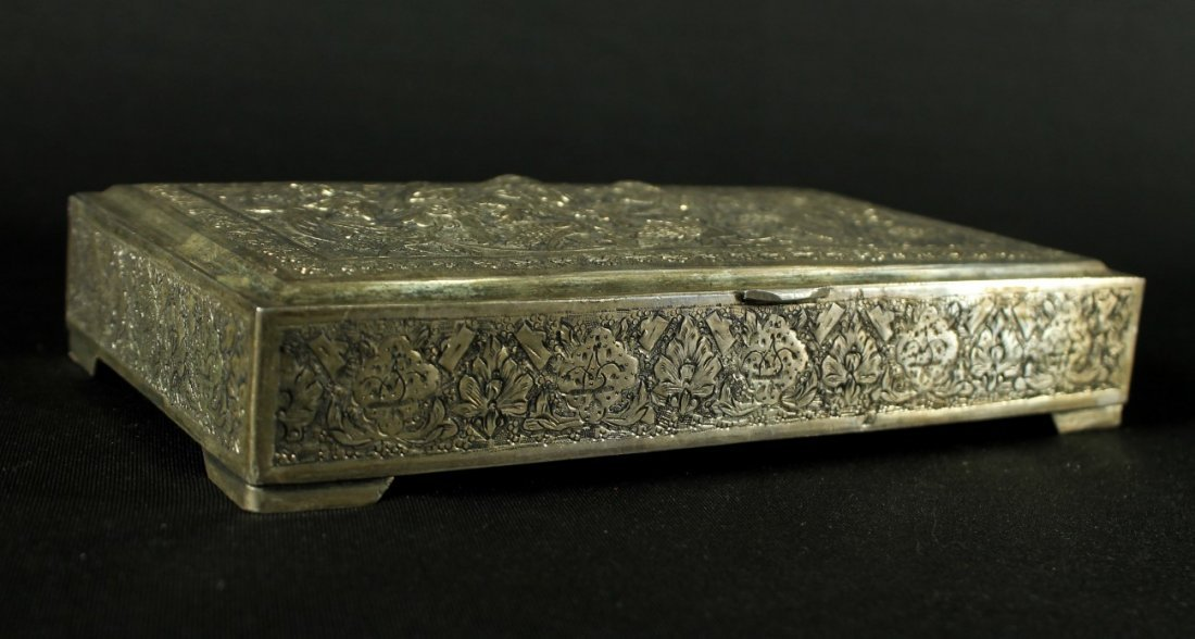 ANTIQUE PERSIAN ISLAMIC STERLING SILVER 84 BOX