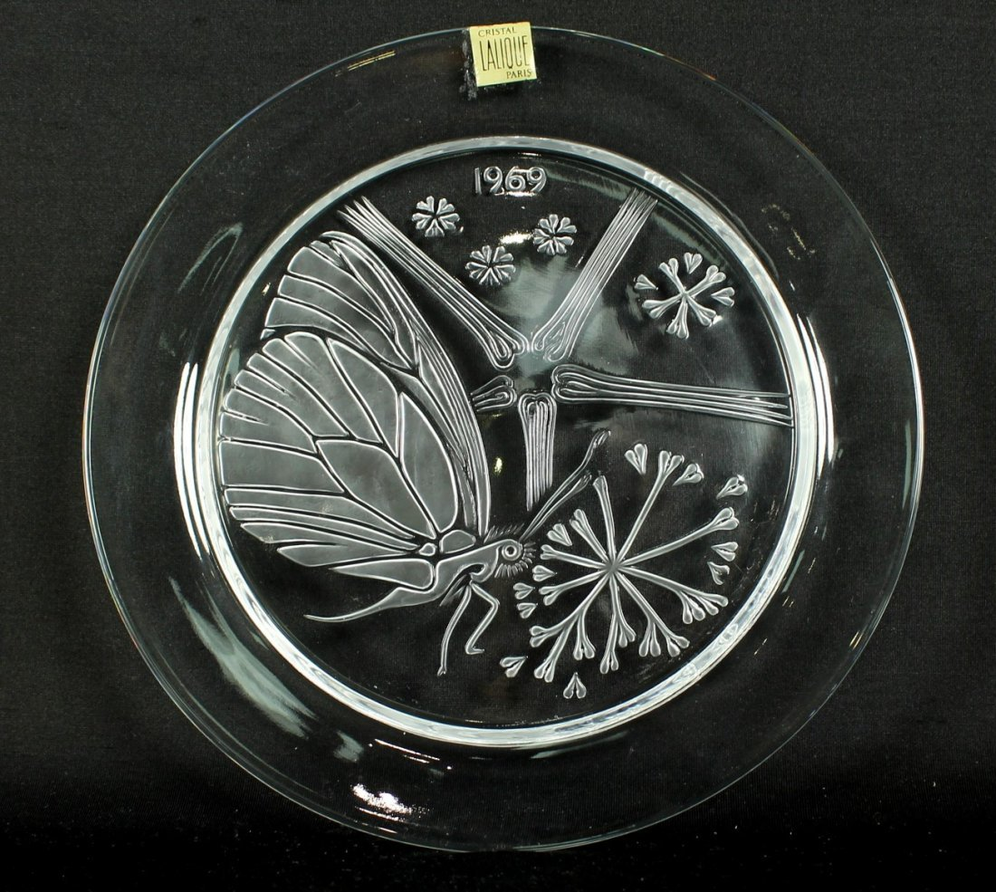LALIQUE CRYSTAL PLATE