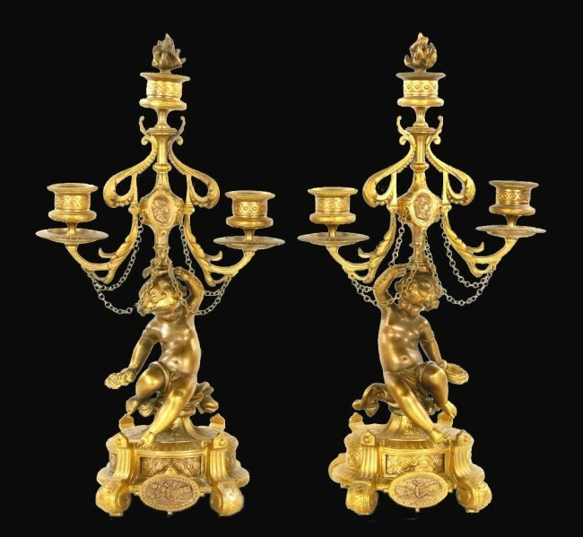 Pair of 19th C. French Candelabra