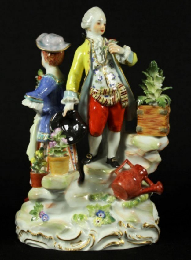 MEISSEN GROUP OF MAN AND WOMAN