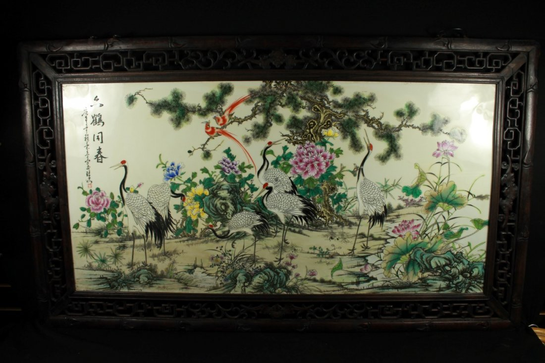 ANTIQUE CHINESE FRAMED SCREEN