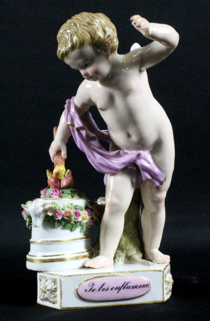 "GERMAN PORCELAIN ""DEVISEN KINDER FIGURE OF PUTH"