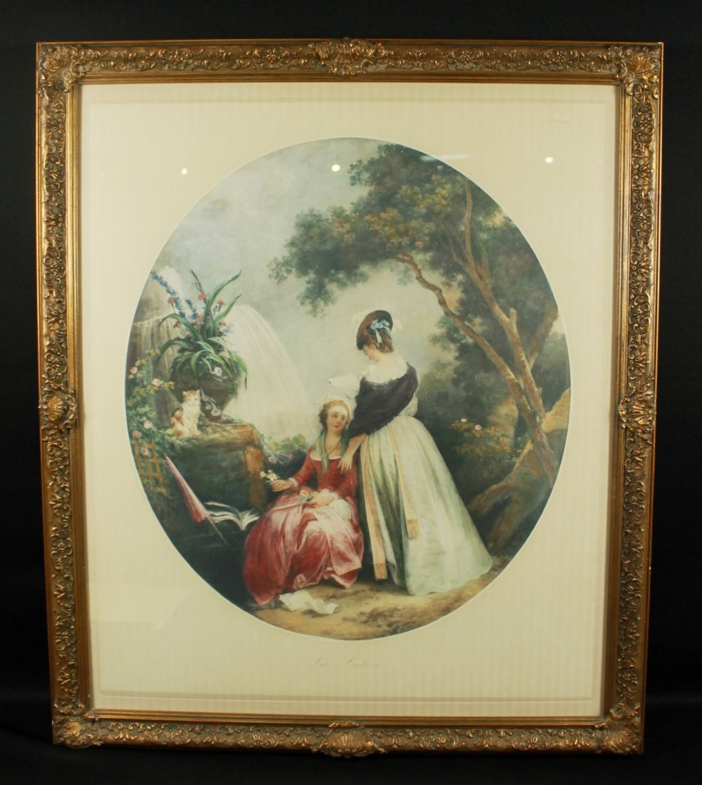 PAINTING OF 2 WOMEN SIGNED