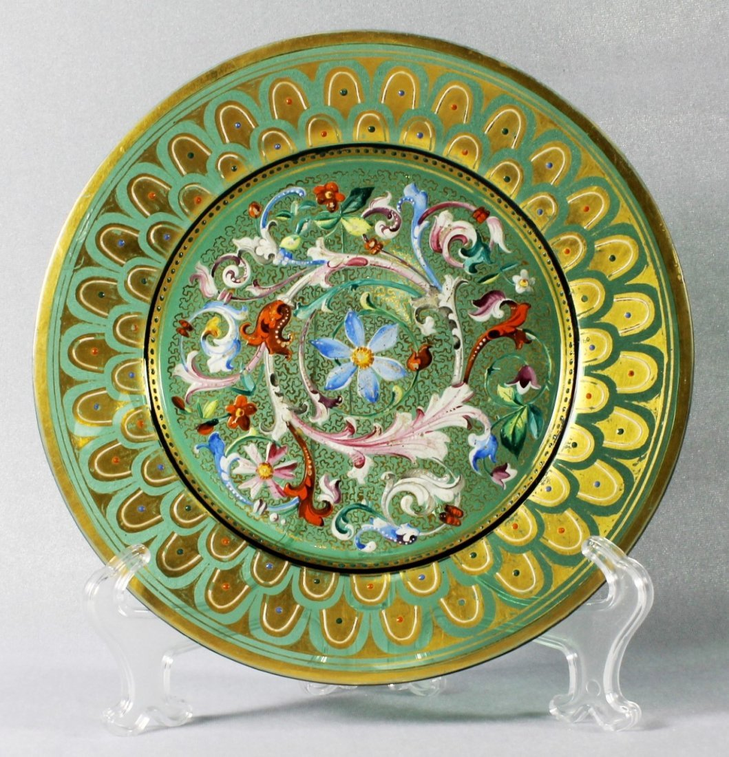 MOSER DECORATED PLATE