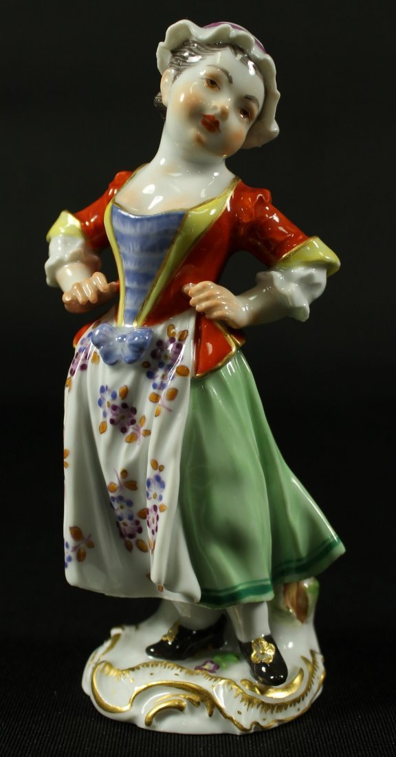 MEISSEN FIGURE OF WOMAN