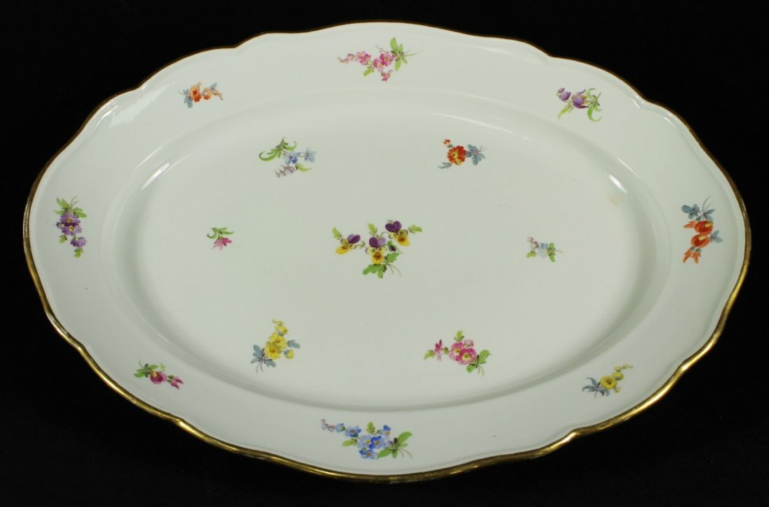 LARGE 19TH C. MEEISSEN PLATTER