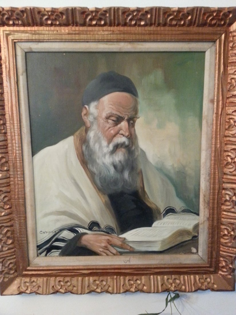 OIL PAINTING OF RABBI BY COHNER