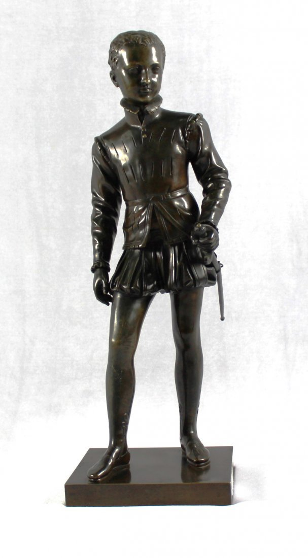 BRONZE FIGURE OF YOUNG HENRY