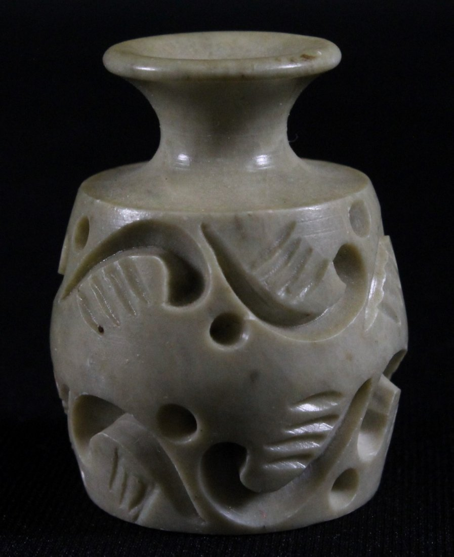 MINIATURE CHINESE CARVED VASE
