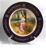 19TH C. ROYAL VIENNA PLATE OF A WOMAN