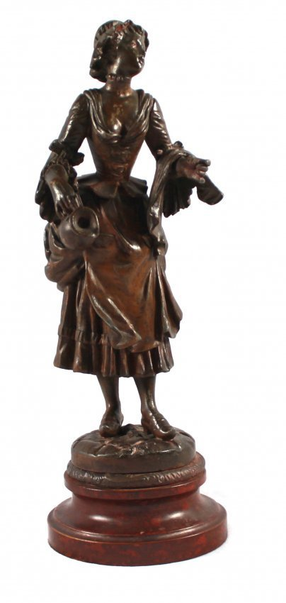 BRONZE FIGURE OF LE COUP DE LETRIER