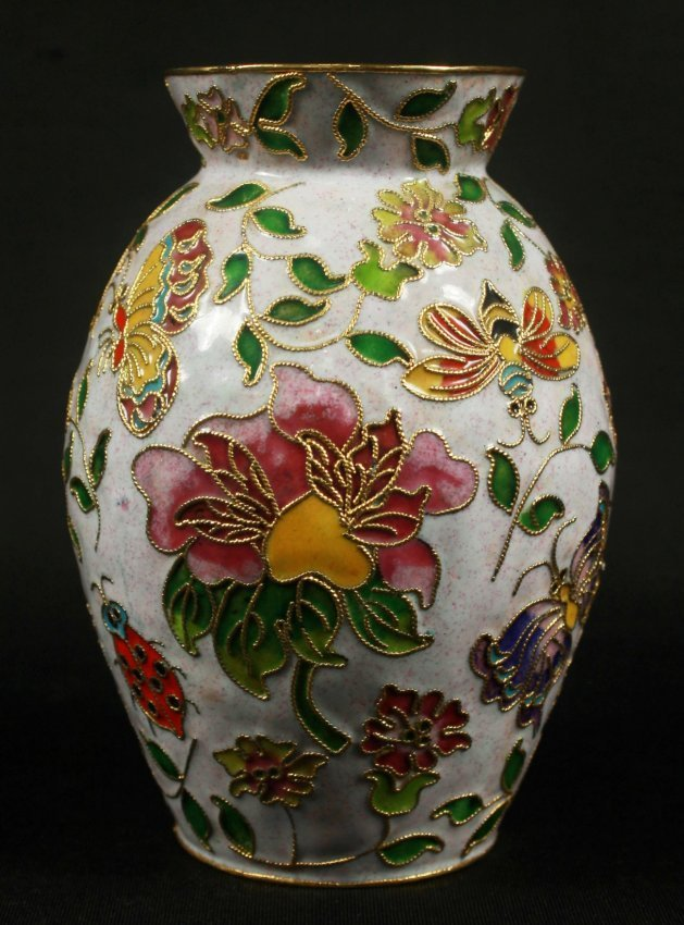 GERMAN ENAMEL AND GILT VASE