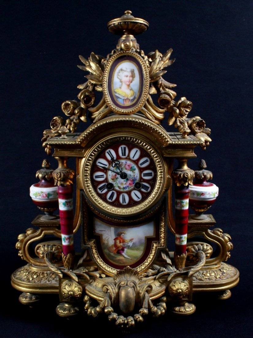 19TH C. SEVRES MANTLE CLOCK