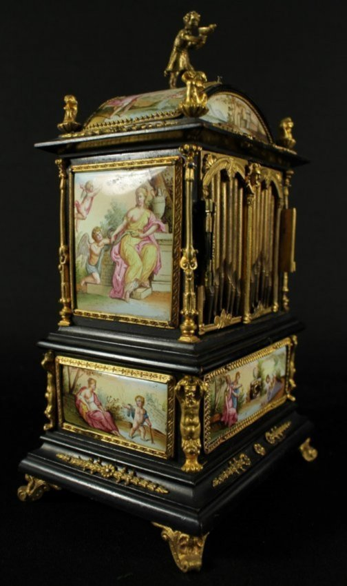 19TH C. VIENNESE ENAMEL JEWELERY BOX