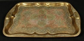 Inlaid Bronze Serving Tray