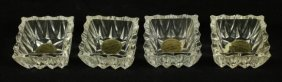 Set Of 4 Lead Crystal Dishes