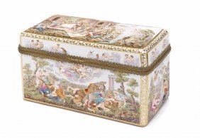 A Meissen Porcelain Table Casket In The Capodimonte
