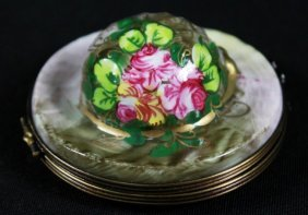 Limoges Porcelain Powder Case