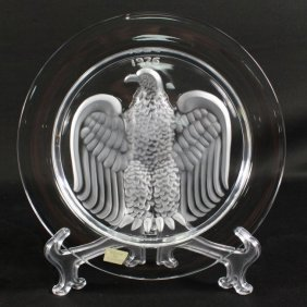 Lalique Plate Of Eagle