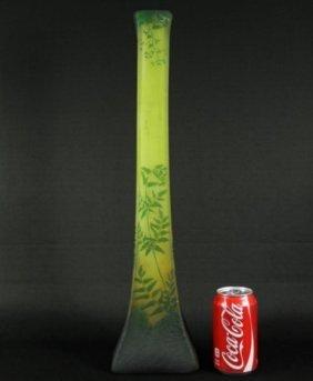 Daum Nancy Vase With Ferns