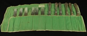 Set Of 12 Forks And Knives Set In Pouch