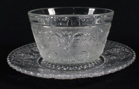 Duncan & Miller -sandwich Clear Pattern Finger Bowl