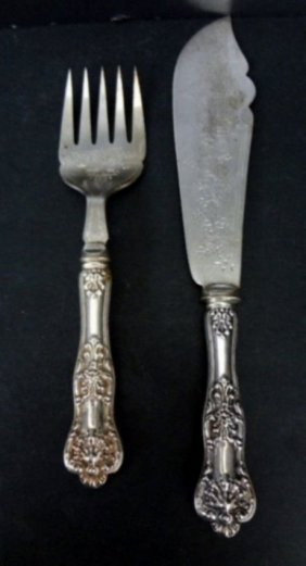 Sterling Silver Hollow Handle & Silver Plated Blade