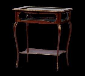 Louis Xv-style Vitrine Table